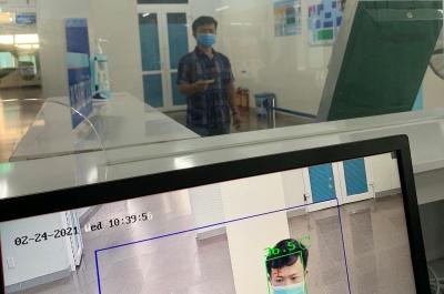 bệnh viện sản-nhi tỉnh: triển khai sử dụng hệ thống camera cảm biến thân nhiệt phòng, chống dịch covid-19